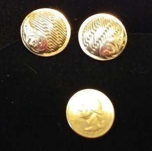 Lois Hill Basket Weave Button Earrings
